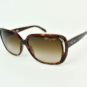 Tiffany & Co. Tortoise Brown Silver Logo Sunglasse